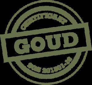 Afbeelding van de gouden certificering van duurzame bloemist